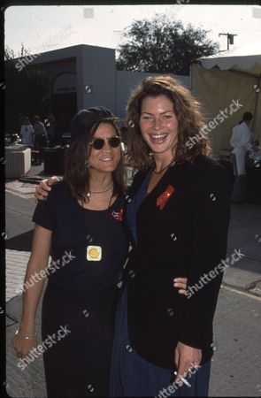 Aileen Getty and Carre Otis