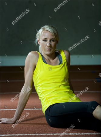Editorial image of Jemma Simpson at the HIPAC indoor training facility at Loughborough University, Britain - 18 Jun 2010