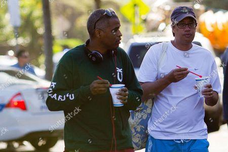Martin Nesbitt and Mike Ramos eat Shave Ice