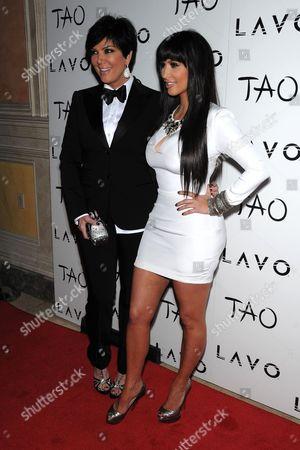 Kris Kardashian and Kim Kardashian