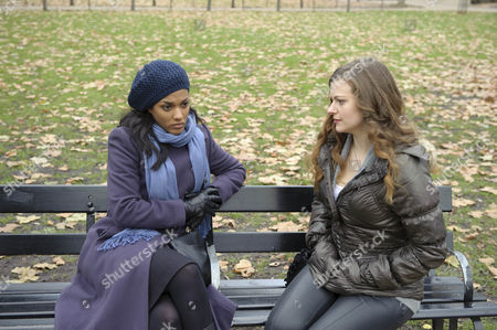 Freema Agyeman as Alesha Phillips and Charlotte Emmerson as Jane Williams.