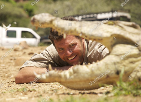 Steve Leonard with one of the Erindi Game Park Crocodiles after it's sucessfull relocation.