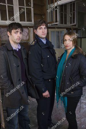 Matthew McNulty as Brian Doyle, Owen McDonnell as Sergeant Jack Driscoll and Simone Lahbib as Gemma Burge.