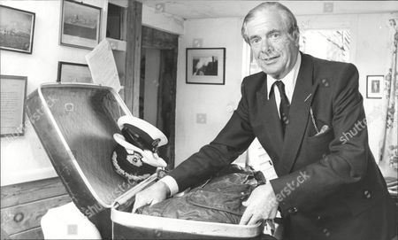 Editorial photo of Naval Commander David Ramsay Prepares For Round The World Trip 1980.