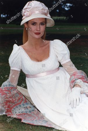 Actress Alison Doody On Location For Barbara Cartland's 'a Dual For Love' (duel Of Hearts) At Luton Hoo.