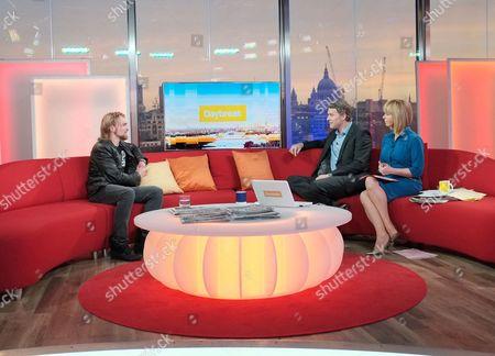 Karl Hinett with Presenters Dan Lobb and Kate Garraway