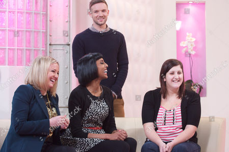 Stock Picture of Jamie Stevens, Faye Sawyer and Natalya Nair with Cassie Smith