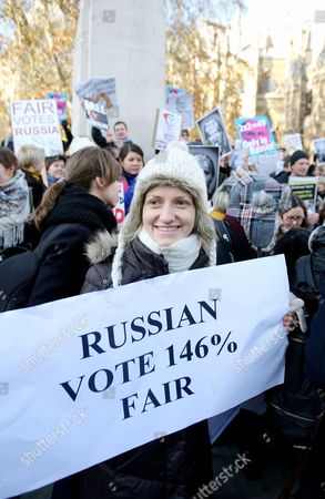 Editorial image of Demonstrations After the Disputed Russian Election Results, Parliament Square, London, Britain - 10 Dec 2011