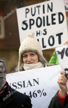 Editorial picture of Demonstrations After the Disputed Russian Election Results, Parliament Square, London, Britain - 10 Dec 2011