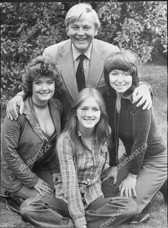 Editorial picture of Actor Jack Watling With His Actress Daughters Dilys Watling (right) Nicola Watling (centre) And Deborah Watling (left)