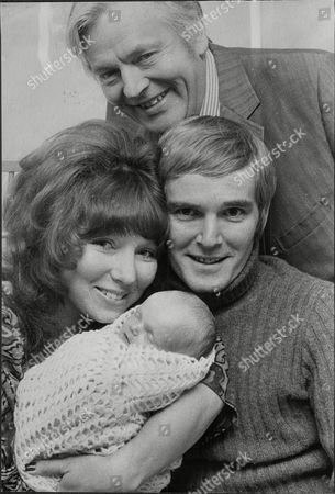 Actor Jack Watling With His Actress Daughter Dilys Watling With Her Baby Sam And Her Boyfriend And Father Of Baby Christopher Matthews