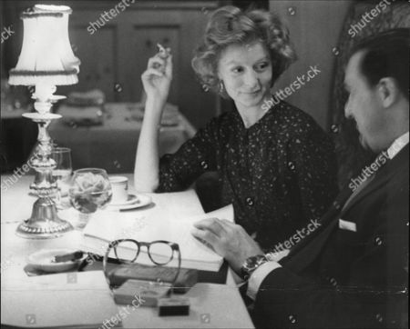 Moira Shearer Actress And Ballerina With Film Script Writer Leo Marks