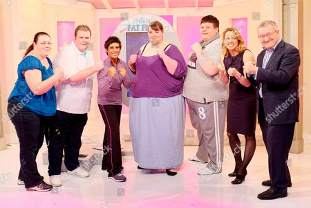 'Fatima's Fat Fight' - Ruth Reeves (17 stone), Andy (26 stone), Fatima Whitbread, Sharon Fisher (40 stone) and Dwain Smith (32 stone) Amanda Hamilton and Dr Chris Steele