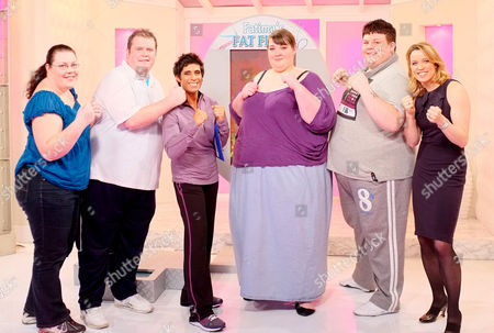 'Fatima's Fat Fight' - Ruth Reeves (17 stone), Andy (26 stone), Fatima Whitbread, Sharon Fisher (40 stone) and Dwain Smith (32 stone) and Amanda Hamilton
