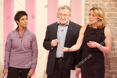 Fatima Whitbread, Dr Chris Steele and Amanda Hamilton