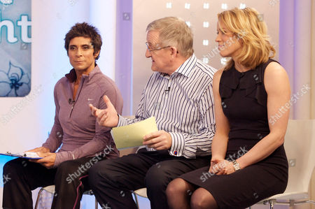 Fatima Whitbread, Dr Chris Steele and Amanda Hamilton.