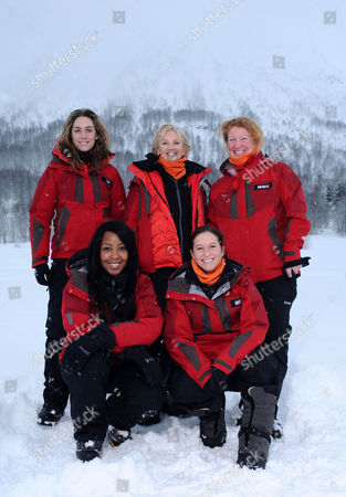 (L-R Back Row) Amy Williams, Lisa Maxwell, Charlie Dimmock, (L-R Front Row) Angelica Bell and Brooke Kinsella