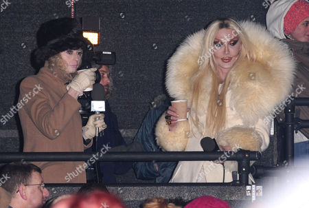 Lauren Harries and Pete Burns