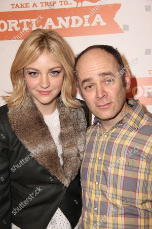 Abby Elliott and Todd Barry