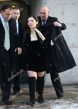 Asil Nadir's Wife Nur Nadir Leaves The Old Bailey London During The Lunch Recess  20.12.10
