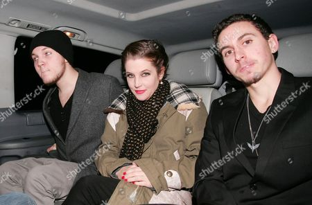 Benjamin Presley Keough, Lisa Marie Presley and guest