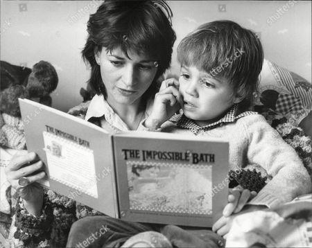 Marina Warner Authoress With Her Son Conrad
