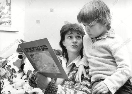 Authoress Marina Warner With Her Son Conrad