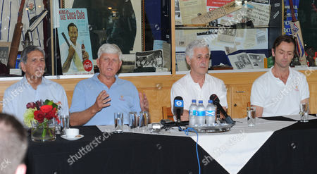 Majid Khan, Barry Richards, Mike Brearley and John Stephenson