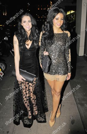 Editorial image of 'Desperate Scousewives' Layla Flaherty and Sam Woolley out and about in London, Britain - 10 Jan 2012