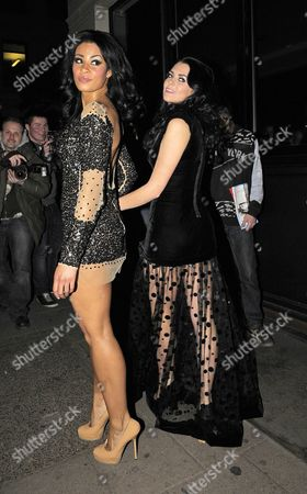 Editorial picture of 'Desperate Scousewives' Layla Flaherty and Sam Woolley out and about in London, Britain - 10 Jan 2012