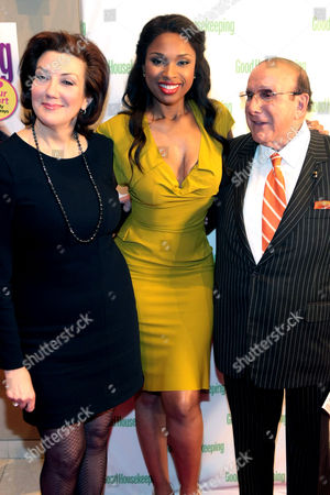 Stock Image of Good Housekeeping Editor In Chief, Rosemary Ellis with Jennifer Hudson and Clive Davis