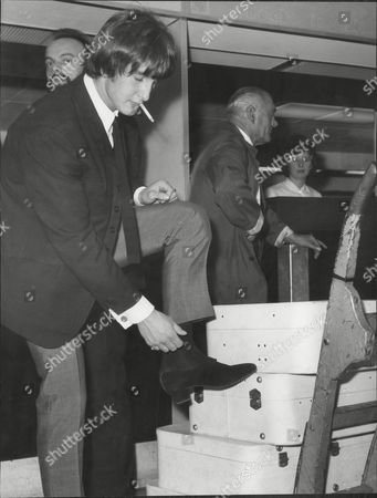 Gordon Waller Of Peter And Gordon Pop Duo Shows Off Boots He Designed Himself 1964.