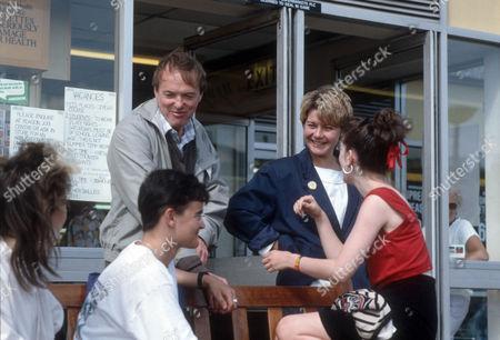 Barbara Flynn as Jill Swinburne and James Bolam as Trevor Chaplin with Gaynor Kitchen as Sharon, Darren Bennett as Gary and Judy Brooke as Yvonne