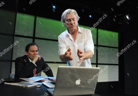 Stock Picture of Jonathan Coote, Darren Weller as Julian Assange