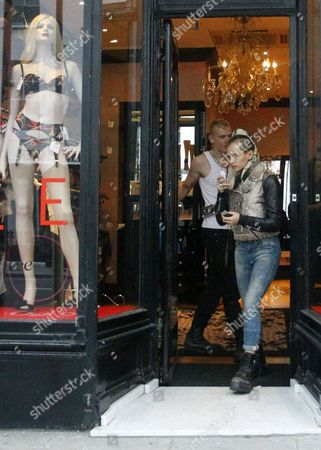 Editorial photo of Alice Dellal shopping at Agent Provocateur with boyfriend, Notting Hill, London, Britain - 11 Jan 2012