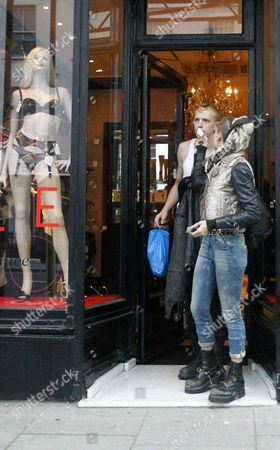 Editorial image of Alice Dellal shopping at Agent Provocateur with boyfriend, Notting Hill, London, Britain - 11 Jan 2012