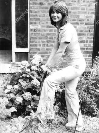 Tricia Walsh Actress Digging Garden 1978.