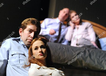 Stock Photo of 'Lovesong' - Leanne Rowe as Margaret, Edward Bennett as William, Sam Cox as Billy, Sian Phillips as Maggie
