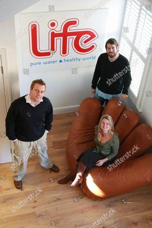 Sussex Business Awards 2007, Life Pure Water Team photograph L-R: Matt Lennard, Sophie Gist & Simon Konecki.
