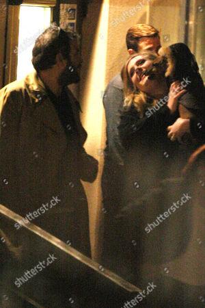 Adele with her boyfriend Simon Konecki and pet dog
