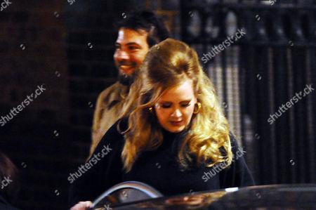 Adele with her boyfriend Simon Konecki