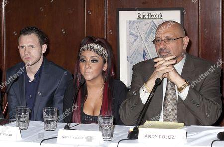 Patrick Hyland, Nicole Snooki Polizzi and Andy Polizzi