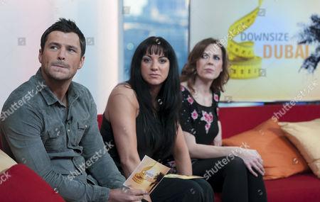 Stock Image of Mark Wright, Elise Lindsay and Emma Kenny
