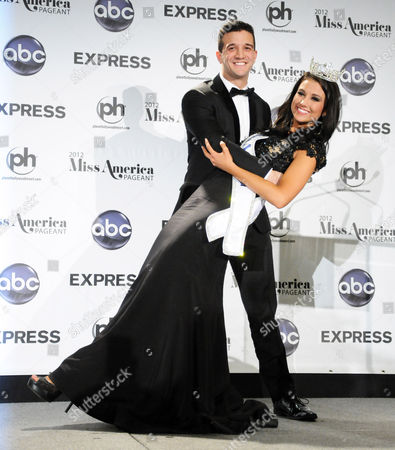 Miss America 2012 Laura Kaeppeler and pageant judge Mark Ballas