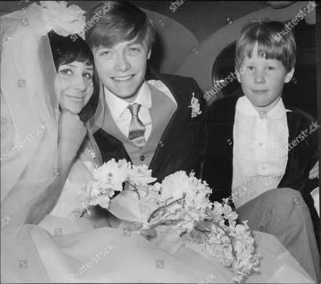 Stock Photo of Simon Ward And Bride Alexandra Malcolm And Page Boy James Lascelles Nephew Of The Bride