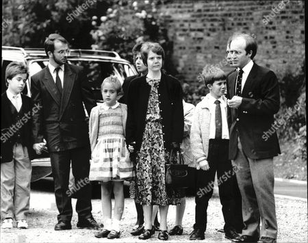 Funeral Of Max Wall Comedian Shows Mourners Including Son Meredith Wall Highgate Cemetery 1990.