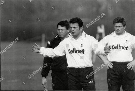 Rory Underwood Will Carling And Graham Dawe Of England Rugby Team In Training 1996.