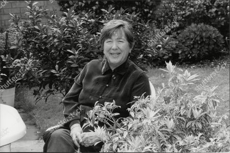 Editorial picture of Jill Paton Walsh Author Here In Garden 1995.