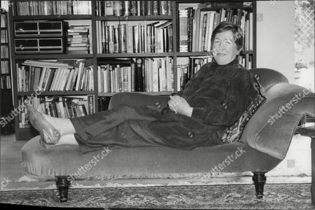 Editorial photo of Jill Paton Walsh Author Here On Chaise Lounge 1995.