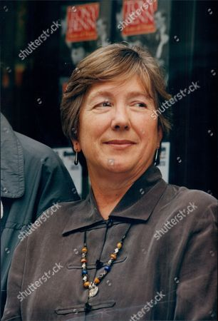 Stock Image of Jill Paton Walsh Author And Finalist For Booker Prize 1994 Here At Dillon's Book Store In London's Gower Street.